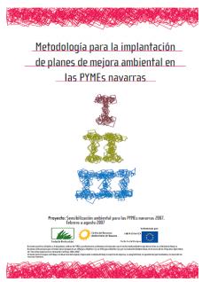 Metodología para la implantación de planes de mejora ambiental en PYMES